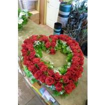 Full Rose Heart Wreath