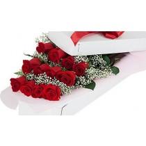 Valentine's Day LS Dozen Red Roses Boxed