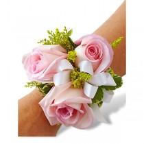 Wrist Corsage - Triple Pink Rose