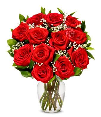 Valentine's Day MS 1 Dozen In Vase