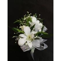 Wrist Corsage - White Orchid Dendro